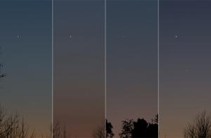 金星と水星の接近経過