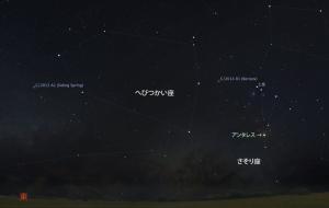 20150131明け方の彗星星図