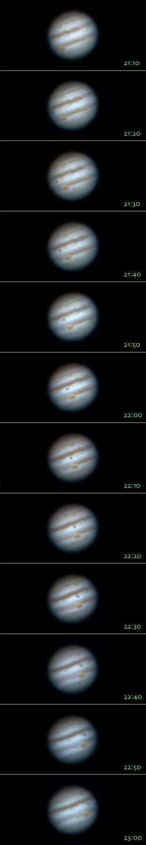20150221木星の大赤斑、衛星の影