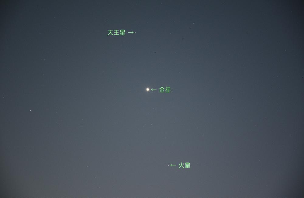 20150302金星、火星、天王星
