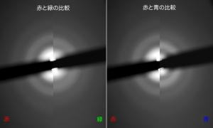 花粉光環RGB比較