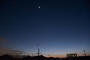 20150324月と金星