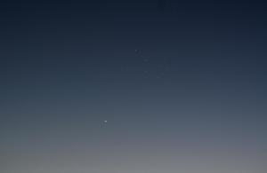 20150430水星とプレアデス星団の大接近