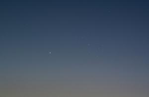 20150501水星とプレアデス星団の大接近