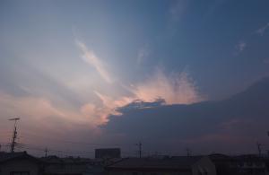 20150615夕方の雲