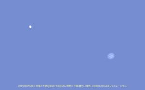 20160828金星と木星の接近