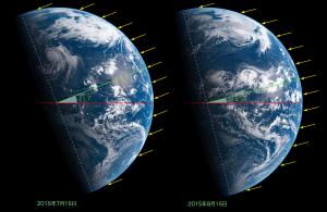 20150715・20150815地球比較