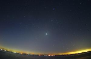 20120731明け方の星と金星
