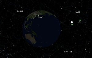 20150906夜中の地球と太陽