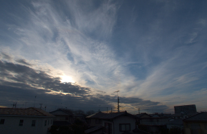 20151111夕空のハロ
