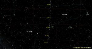 カタリナ彗星(C/2013US10)星図151110