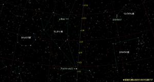 カタリナ彗星(C/2013US10)星図160101