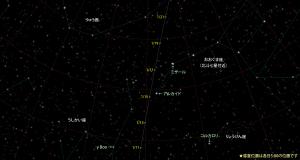 カタリナ彗星(C/2013US10)星図160111