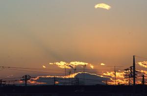 20151204夕方の富士山
