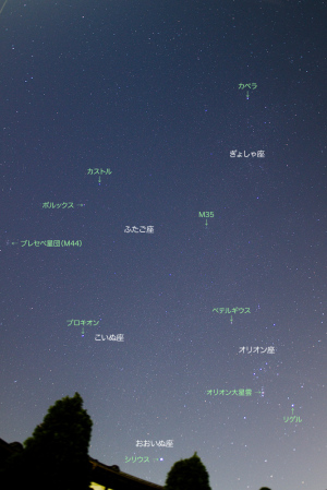20151213冬の星々