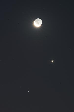 20160107月・金星・土星の接近