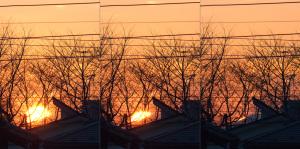 20160108富士山に沈む太陽