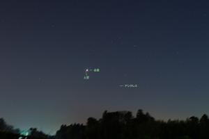 20160109金星と土星の接近