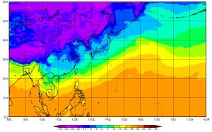 地表温度・アジア