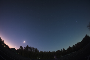 20160205明け方の惑星と月