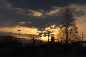 20160225下方の太陽柱