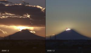 2009年1月のダイヤ富士比較