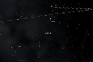 2016火星とアンタレス接近星図