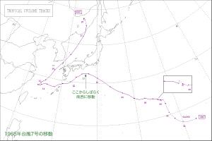 1968年台風7号の経路