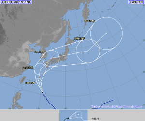 20161002-1500台風18号進路予報
