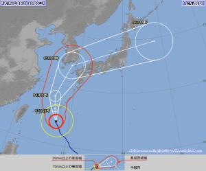 20161003-0900台風18号進路予報
