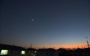 20161105夕空の月惑星