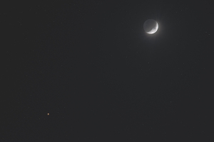 20161106月と火星の接近