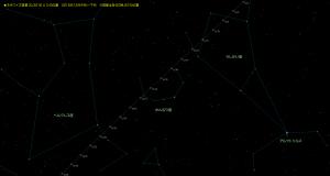 ネオワイズ彗星星図