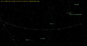 ジョンソン彗星星図