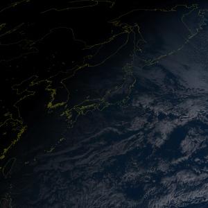 20170101初日の出衛星画像
