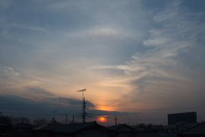 20170312内暈と太陽柱