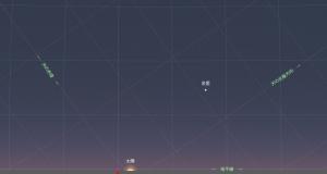 20170321日没時の金星