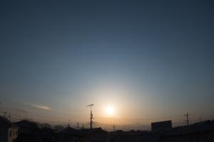 20170325夕日と幻日