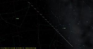 ラブジョイ彗星(C/2017 E4)星図