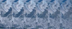 20170325カンバルニー山の噴煙
