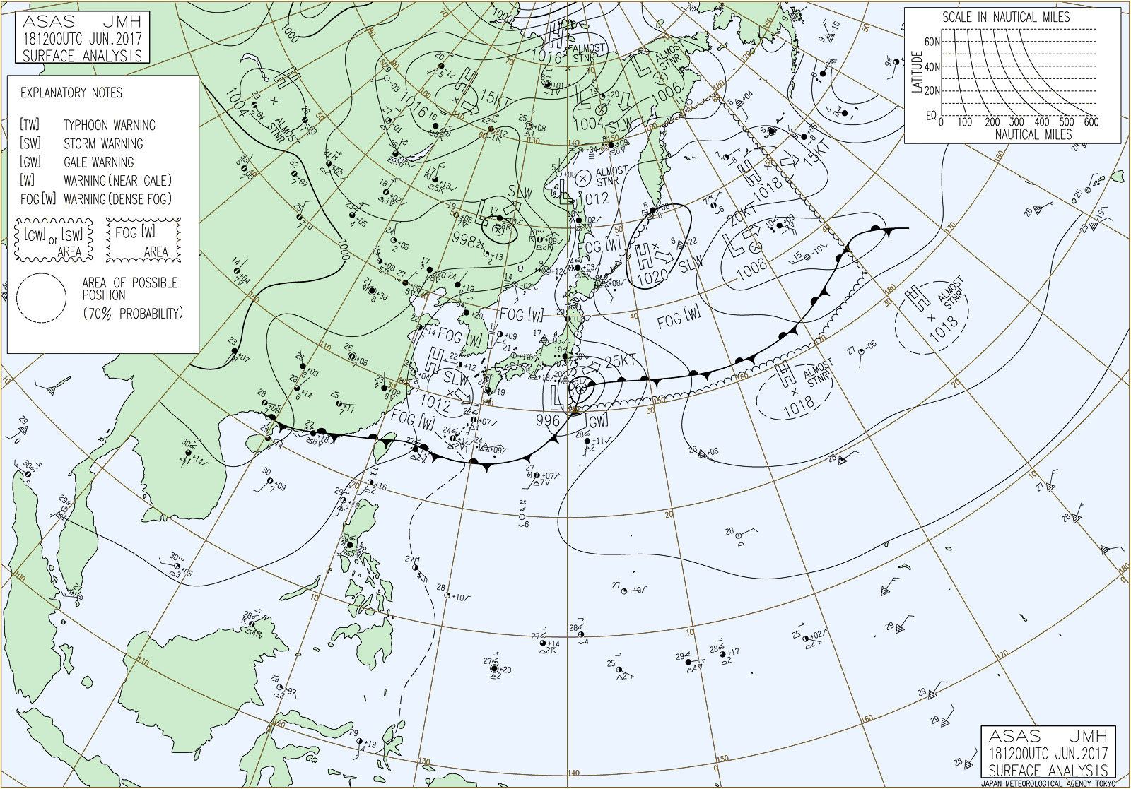 20170618-2100地上天気図