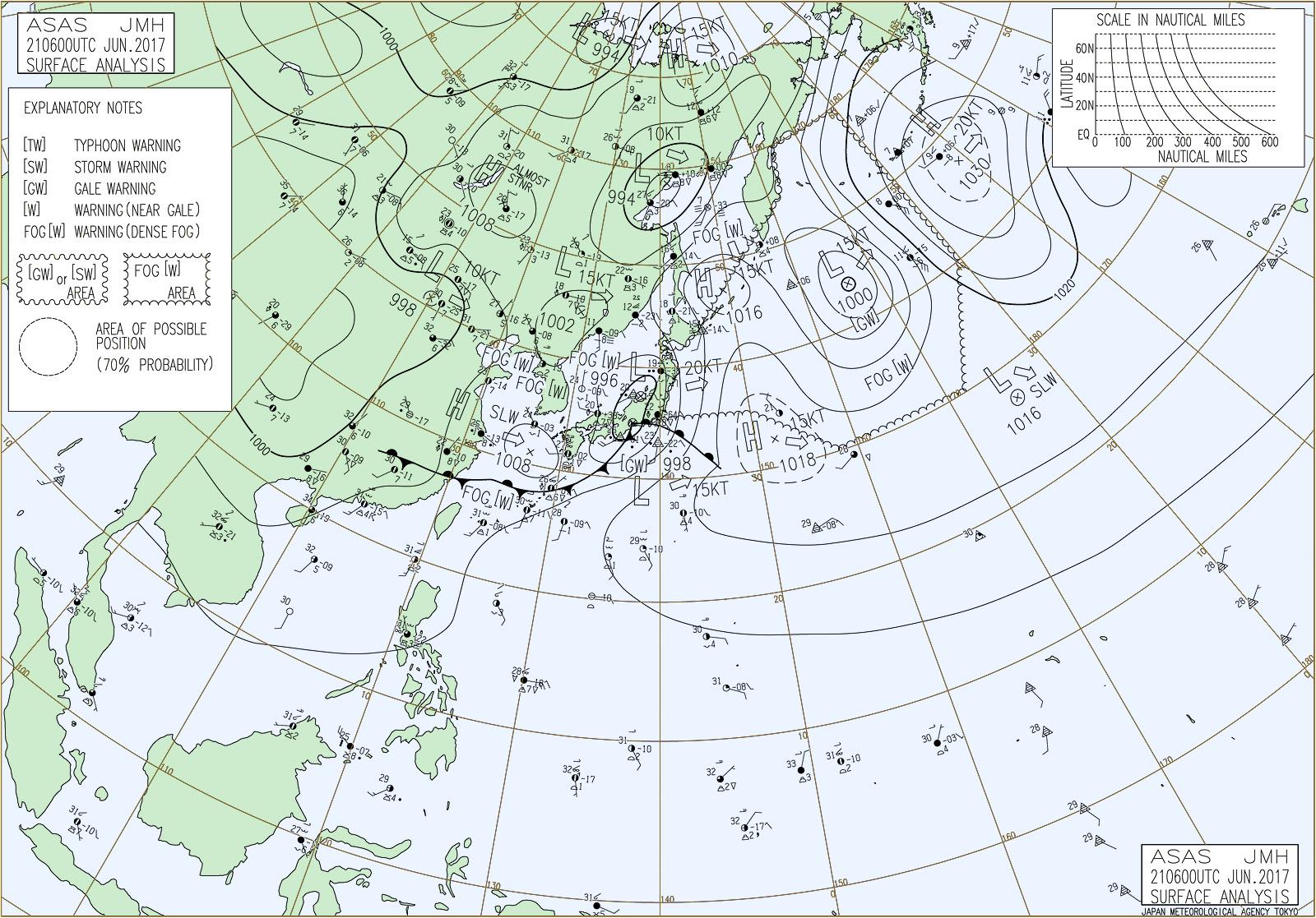 20170621-1500地上天気図