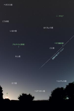 20170708七夕の星とISS