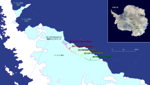 20170712ラーセンCの氷塊分離