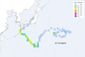 2017年台風5号ACEマップ