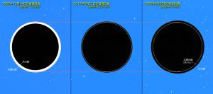 日食継続時間と太陽・月の大きさ