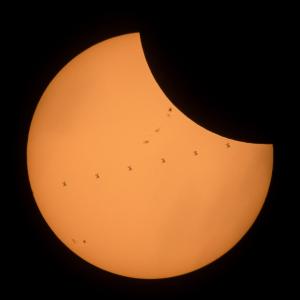 20170822日食とISS