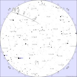 20171230明け方・国際宇宙ステーションのパス