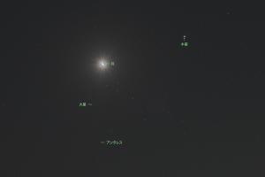 20180209月と星々