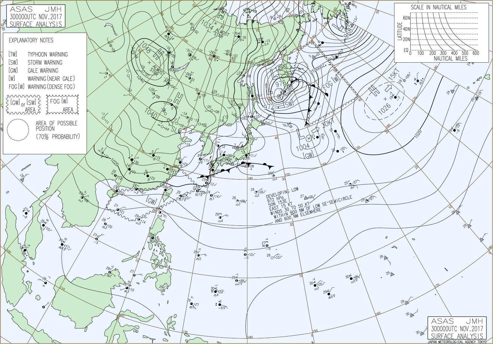 20171130-0900JST天気図